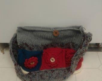 Flower granny square bag