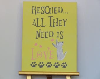 Rescued..All They Need is Love!   (9x12 painting)