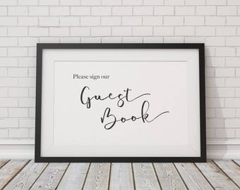 Guestbook Poster - Please sign our Guestbook