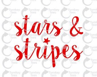 stars and stripes svg file| 4th of July svg | america svg| American flag svg|patriotic svg||Vinyl Cutter Designs|Cameo Silhouette|Cricut svg