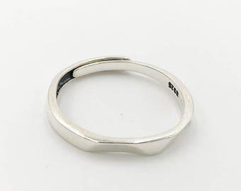 Silver Geo Ring