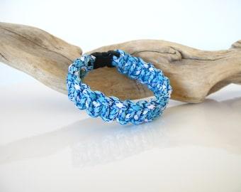 Blue shock Paracord COBRA survival bracelet