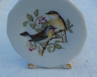 PORCELAIN BIRD PLATE