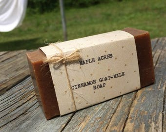 Cinnamon Milk Soap {All Natural, Farm Fresh, Sensitive Skin, Cold Process Soap}