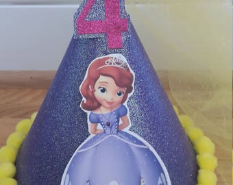 Custom Sofia the First Party Birthday Hat
