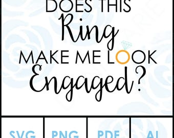 Does this Ring make me look Engaged SVG