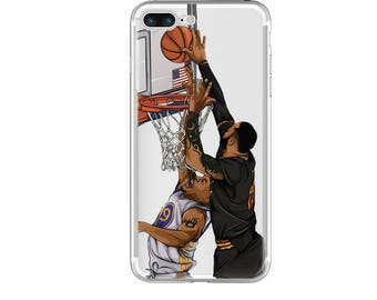 """The """"Swatted"""" Basketball Phone Case, Hand-Drawn Basketball iPhone Case / Fits iPhone 5, iPhone 6, iPhone 7"""