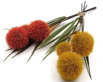 Fall Pom Pom Stems. Artificial Flower. Floral Arrangements. Flower Bouquet. Pom Pom Spray