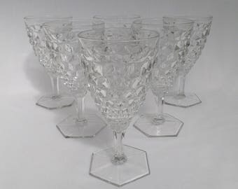 Fostoria American Clear Goblets - Set of Six