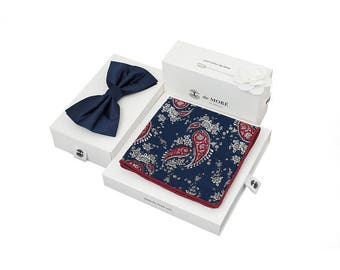 de MORÉ - blue & red Paisley set