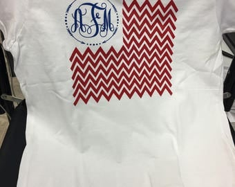 Ladies 4th of July t-shirt