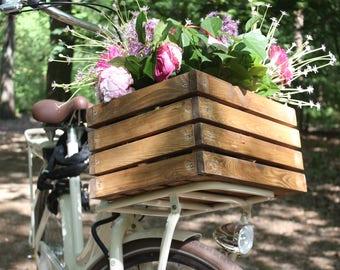 Wooden bike crate