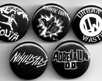 New York hardcore punk buttons !