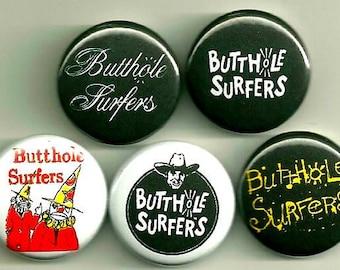 Butthole Surfers buttons set !