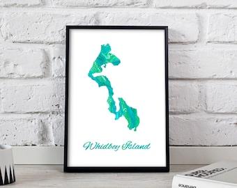 Whidbey Island poster Whidbey Island art Whidbey Island Map poster Whidbey Island print wall art Whidbey Island wall decor Gift poster