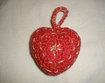 """Heart"" crocheted Christmas decoration"