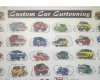 Hotrodding and Custom CARtoon Stickers CHOOSE ANY 5 for 10 dollars