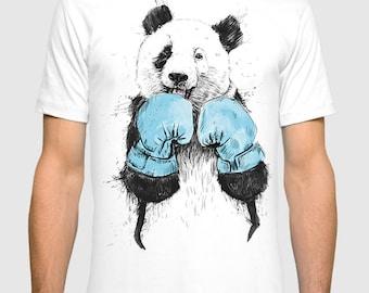 Boxing Panda Men's Women's T-shirt