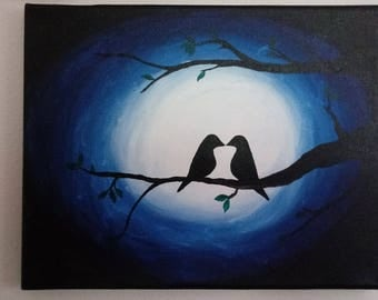 Love Birds in the Moonlight 8x10