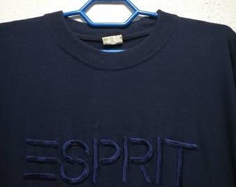 Vintage ESPRIT Embroidered Big Logo T-shirt
