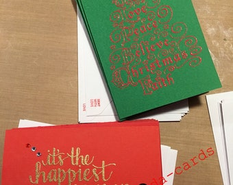 Handcrafted Christmas card bundle