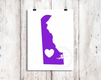 Delaware Love Vinyl Decal