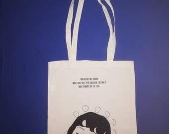 "Shopper bag 100% cotton-printing color natural ""life"" (Britney Spears)"