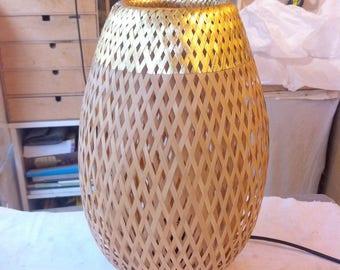 Light bamboo braided 35 cm. Gold 24 k & dimmer. Original Timislight