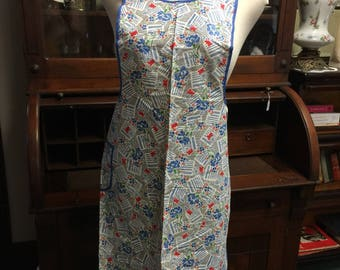 Vintage Silin's Apron 864 Fruit of the Loom  Floral Apron