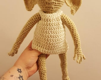 Dobby inspired doll~ Harry potter inspired stuffy ~ handmade crochet toy