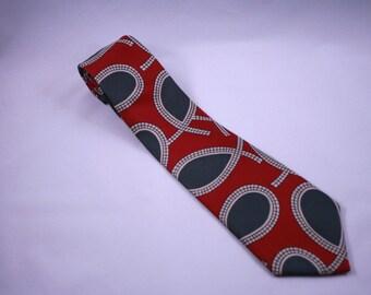 Gant-Necktie-Greek Fish-100-silk-made in the USA      16