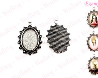 Set of 4 holders for REF925 18x25mm cabochons