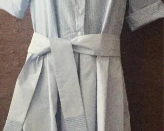 HUGO BOSS shirt dress blue-white size S