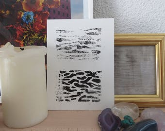 Linocut card
