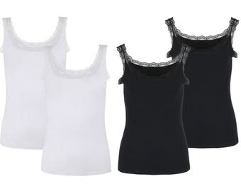 Womens Lace Cami 4 - pack