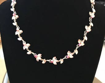 Gorgeous Pink Lotus Necklace