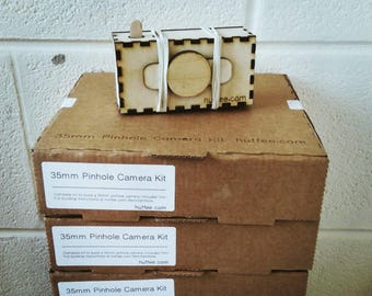 DIY lasercut pinhole camera kit