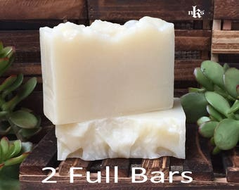 Unscented Original Natural Handmade Olive Oil Cold Process Soap. Pack of 2 bars.