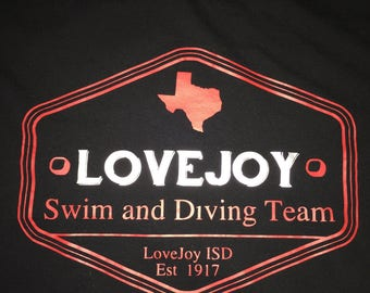 LoveJoy Swim Team Goggles shirt