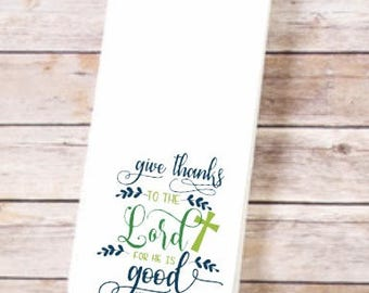 Religious, Tea Towel, Kitchen Towel, Flour Sack Towels, Kitchen Decor, Hostess Gift, Kitchen Towels, Dish Towel, Kitchen Towel