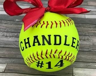 Real Softball Ornament