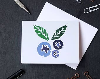 Blueberry Notecard