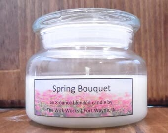 Spring Bouquet 8-ounce Premium Soy Candle