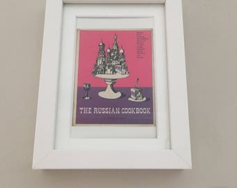Classic Cookery Book cover print- framed - The Russian Cookbook