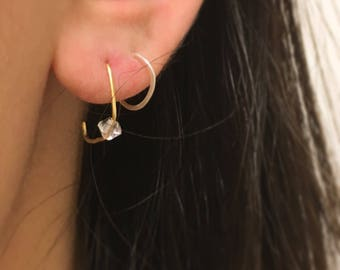 Open Cube Earrings