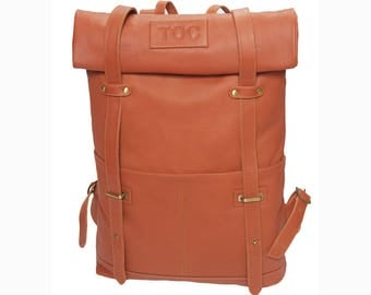 TOC Leather Backpack - Cognac
