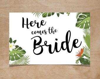 Botanical Gardens/Tropical - Here Comes the Bride
