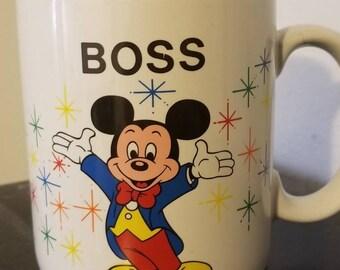 "Vintage Disney ""Boss"" Mug"