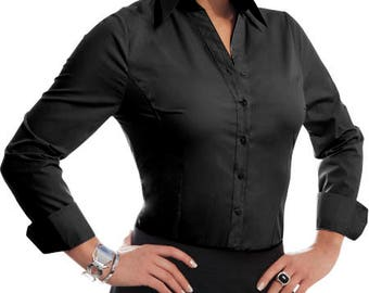 Perfect black - business blouse black