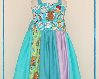 Girls SC00BY D00 Dress - Ready to Ship - fits aprox 4/5 4T 5T - Birthday Party - Dog - Ghost